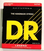 Strings, DR Legend Flat Wound Stainless For Electric Guitar