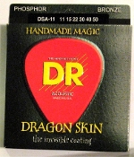 Strings, DR Dragon Skin For Acoustic Guitar